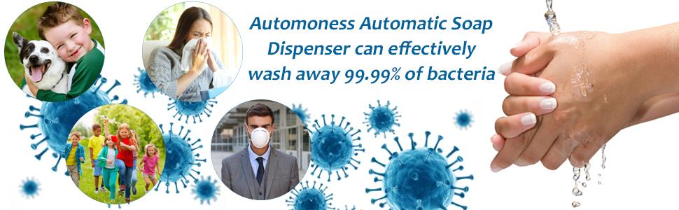 automatic sensor touchless sanitizer machine handwash liquid alcohol soap dispenser bathroom home