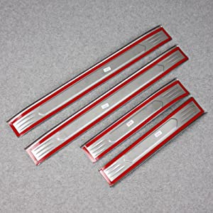 Beautost Fit for Toyota VENZA 2021 Outside Door Sill Scuff Plate Guard Cover Trim Stainless Steel