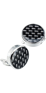 HAWSON Button Cover Cufflinks Finished in Round Carbon Fiber for Men's Normal Shirt
