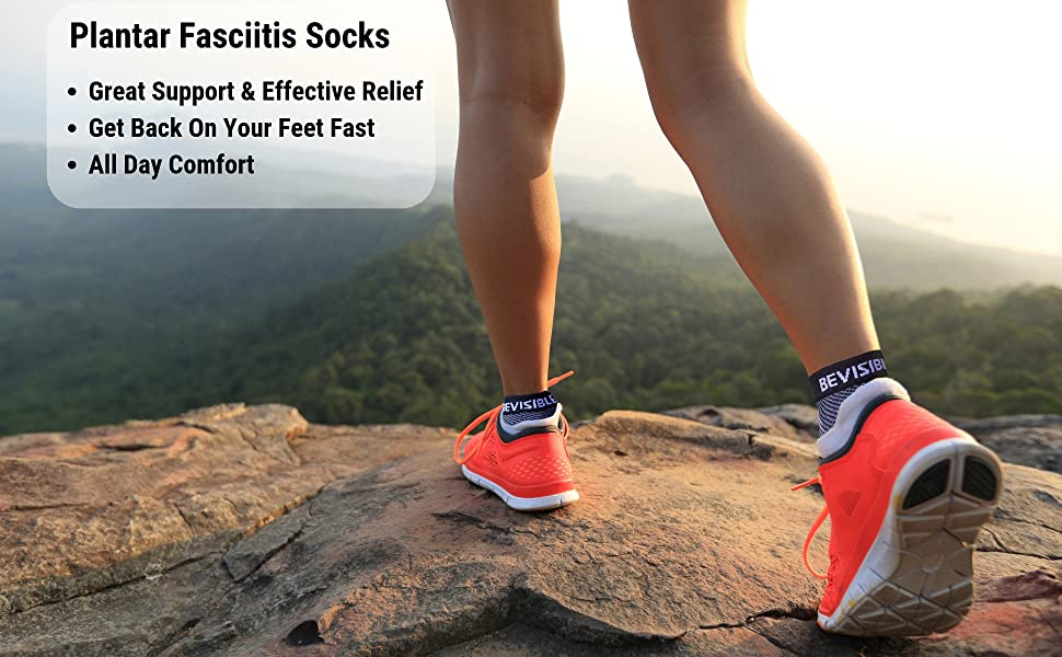 plantar fasciitis compression socks foot ankle sleeves heel pain relief for men women