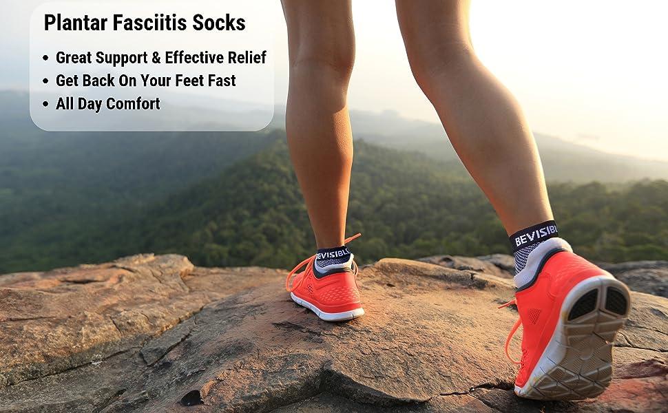 plantar fasciitis compression socks foot ankle sleeves heel pain relief for men women