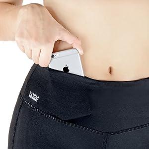 Formbelt Handy kordel Schlüssel Tasche hoher Bund Variosports Leggings Sport Laufhose Activewear
