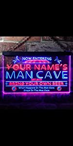 ADVPRO LED neon sign Personalized fonts text dual-color bright light man cave basketball game