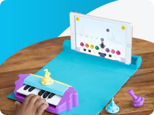 Music - Plugo Tunes By PlayShifu - Piano Learning Kit Musical STEAM Toy For Ages 5-10 - Educational Music Instruments Gift For Boys & Girls (App Based)