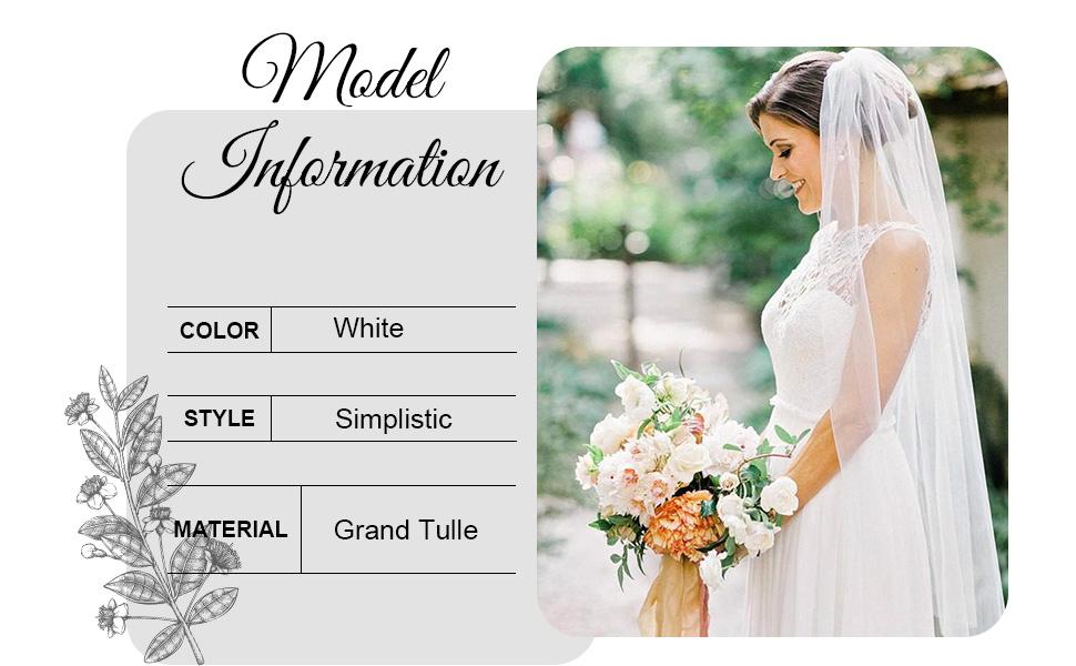 Bride veil short