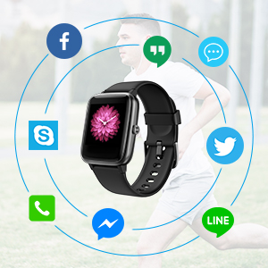 Reloj Inteligente Hombre Smartwatch Impermeable IP68 Pulsera ...