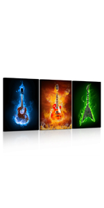 Contemporary Painting on Canvas Music Pictures For Home Decor Kitchen Canvas Artwork