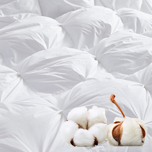 goose down comforter egyptian cotton down proof fabric hypoallergenic soft silky prima down shell