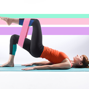 Hykes Resistance Loop Bands Legs Butt Squats Thighs Hips Glutes Booty Workout Yoga Pilates Exercise