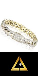 iced out cuban link bracelet for men