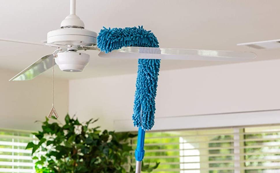 fan cleaning mop with long road