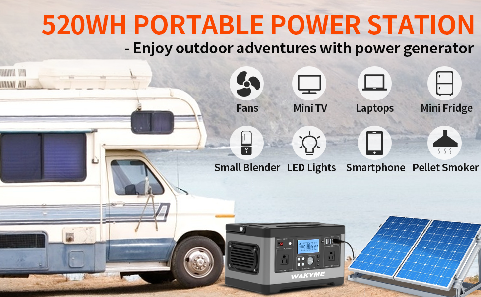 WAKYME 520 Wh Portable Station