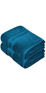 hand towels peacock blue