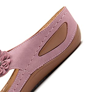 black for girls outdoor summer shoes cute sandals for women slip on shoes comfy strap soft flats