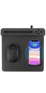 10W Fast Wireless Charger Desk Organizer Charging Storage iPhone 11 Xs MAX XR Samsung S10 9 8 Holder