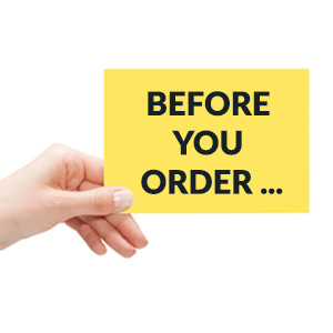 before you order