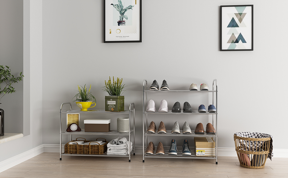 3 layer shoe rack and 4 layer shoe rack