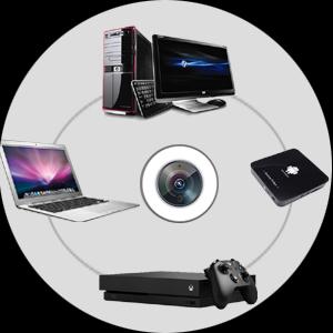 Retransmision en directo de playstation, 30fps, samsung, mini, tripodd, webcam