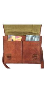 16 inch Leather Messenger Bag