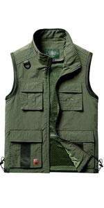 Men's Lightweight Quick Dry Outdoor Multi Pockets Fishing Vest