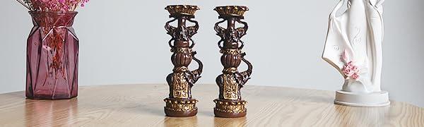candleholders set table