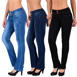 Damen Bootcut Jeans Hosen