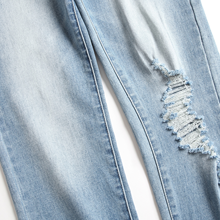 jeans for young men ripped denim washed 32 pant