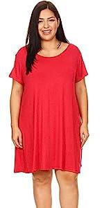 swing dress, comfortable plus size dress