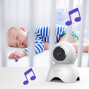 """baby monitor camera - GOODBABY Real 720P 5"""" HD Display Video Baby Monitor With Camera And Audio, Remote Pan&Tilt&Zoom, Two-Way Talk,Temperature Monitor, Night Vision, Lullaby Player, 960ft Range"""