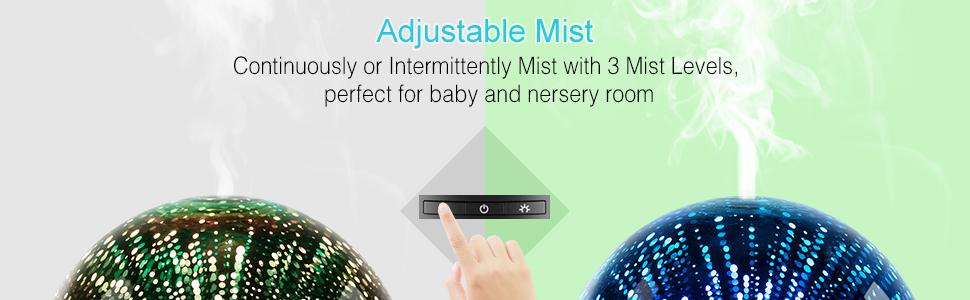 adjustable cool mist air diffuser