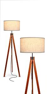 Brightech Eden Tripod LED Floor Lamp – Mid Century Dimmable Modern Light