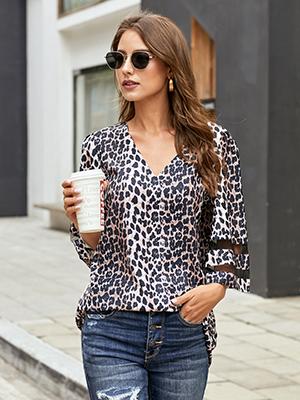 leopard print blouse for women