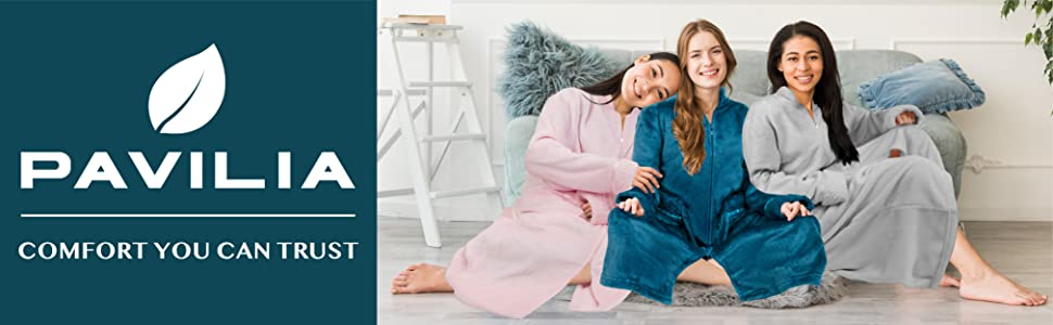 Zip up front robe lounger housecoat house coat for women ladies sleepwear pajama