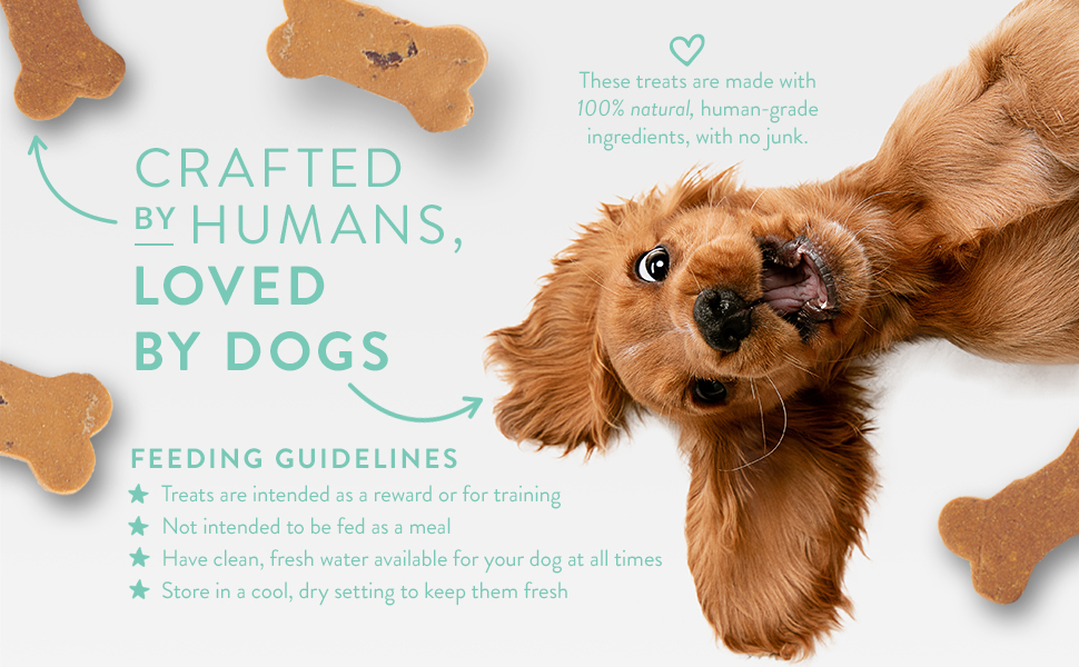 Crafted by humans loved by dogs Portland Pet Food feeding guidelines 100% natural ingredients