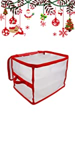 christmas ornament storage container box with dividers