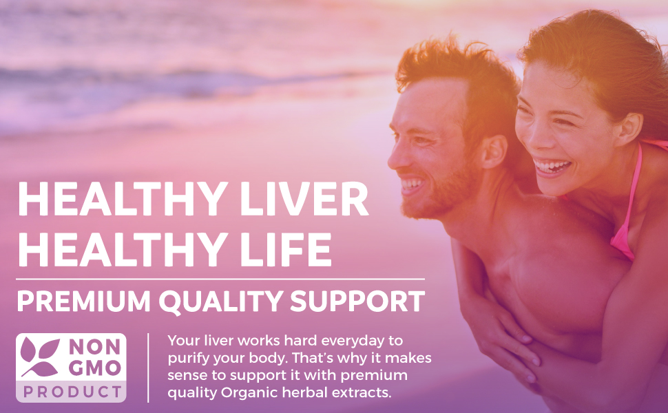 premium quality natural liver support and detox - organic liver cleanse