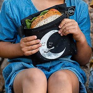 reusable snack sandwich bags food bag dishwasher safe kids adults washable eco baggies set snacks