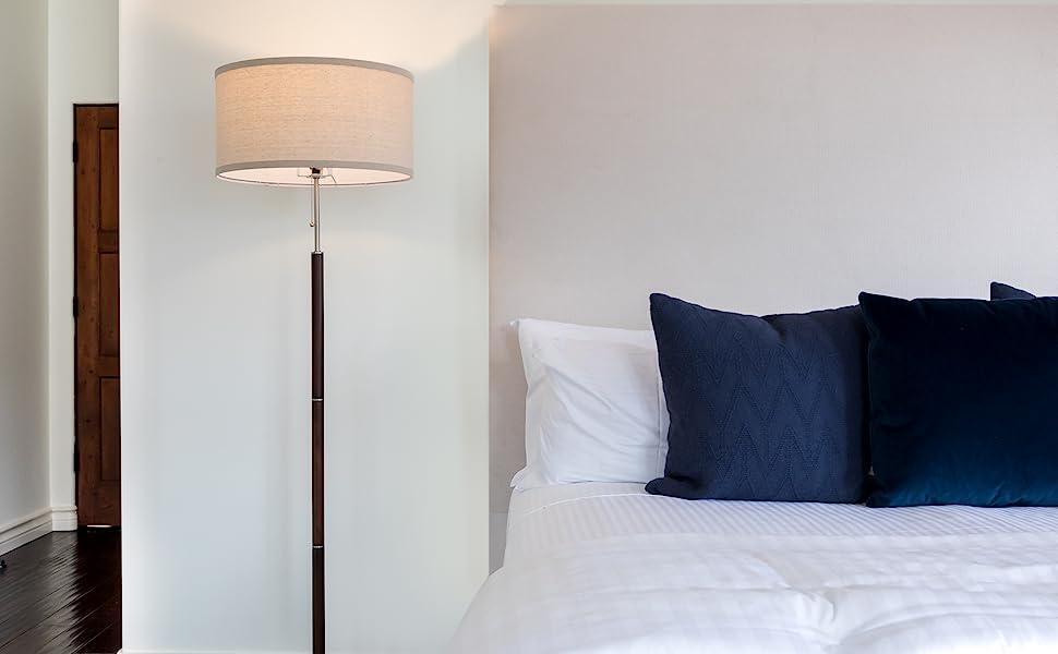 Brightech Carter - Floor Lamp for Mid Century Modern Living Rooms