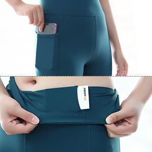 2 Side Pockets and Hidden Waistband Pocket