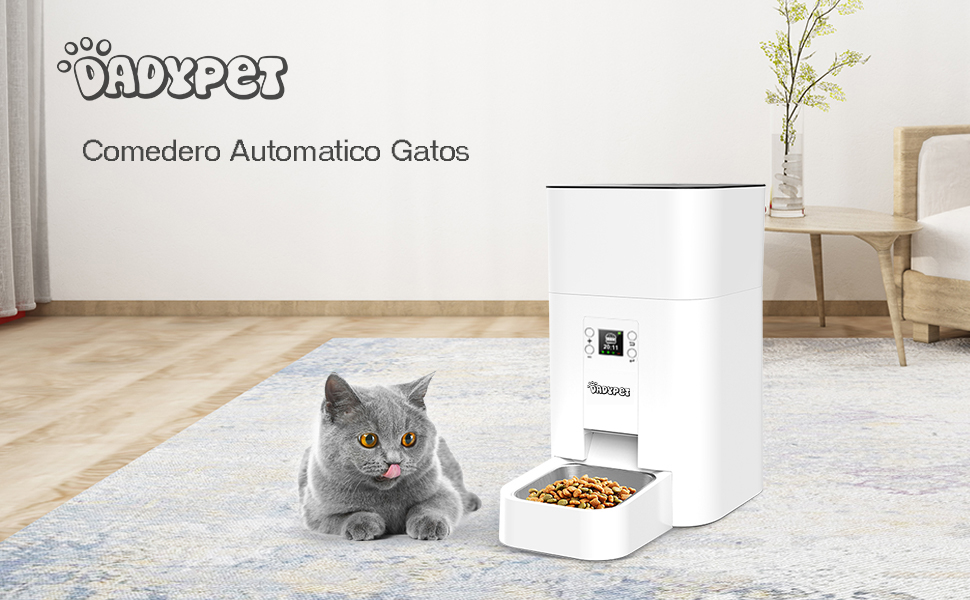 DADYPET Comedero Automatico Gatos 4.5L, Comedero Perro Dispensador ...