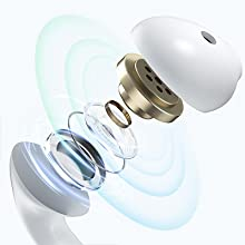 earbuds wireless headphones with microphone