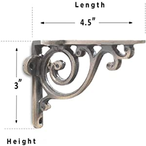 wall brackets dimension