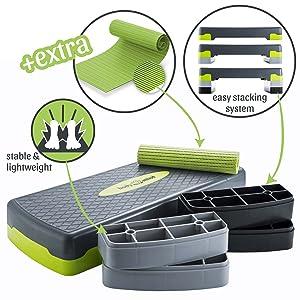 Stepper body & geest en stap board stepplank fitness aerobics