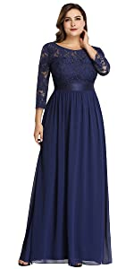 Plus Size Evening Dress formal wedding Guest gown chiffon formal dress fall evening gown with sleeve