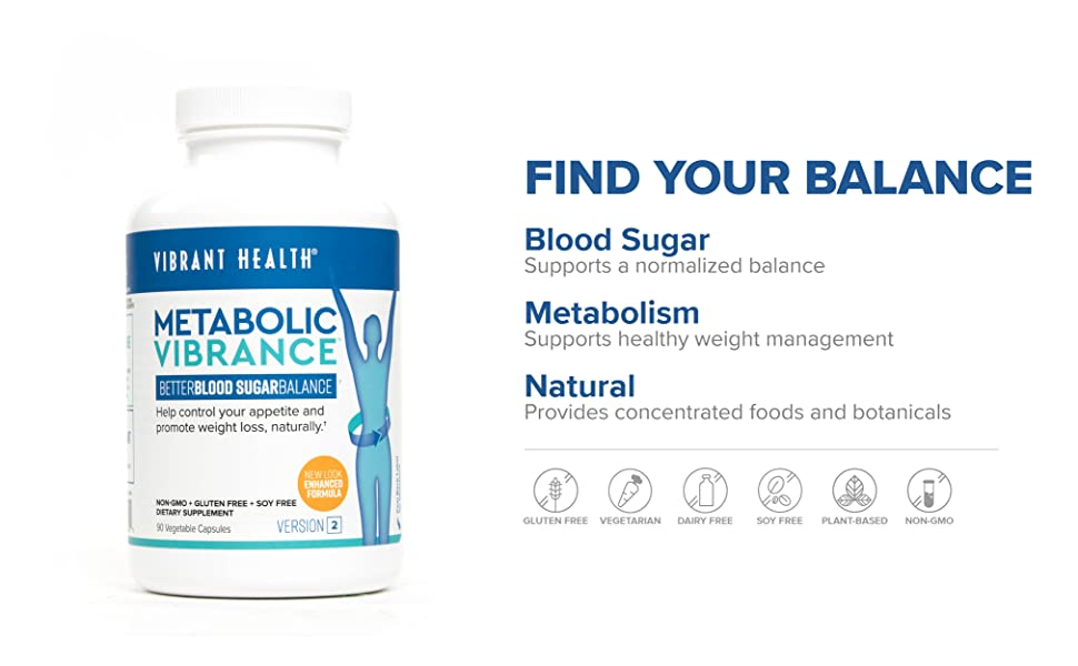 FIND YOUR BALANCE; Blood Sugar Supports a normalized balance
