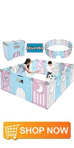 Gimars foldable baby playpen