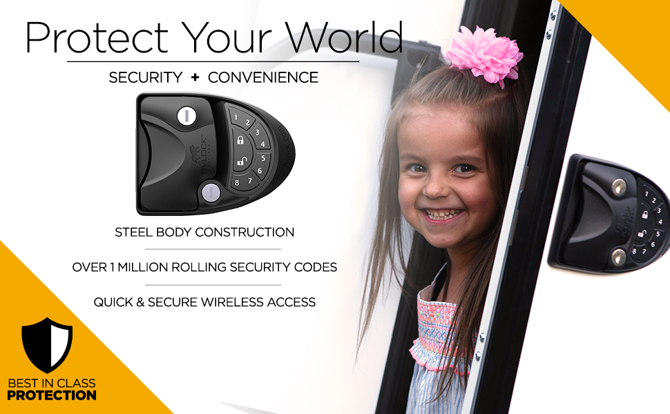 Protect Your World Security Convenience Steel Body Construction Rolling Codes Quick Secure Wireless