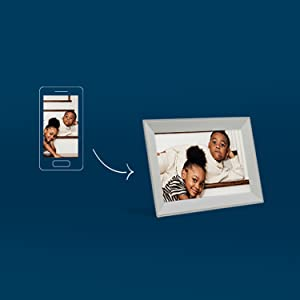 snap and share digital image frame unlimited sharing clear display auto-dimming hassle-free
