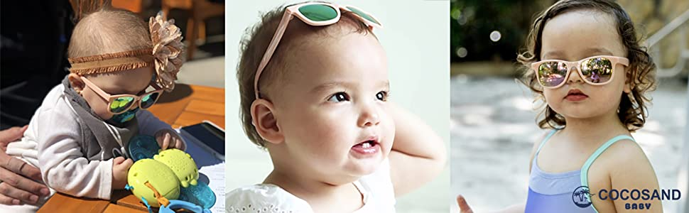 Baby Sunglasses 100% UVA UVB Protection Proof Baby Toddler Kids Ages 0-2