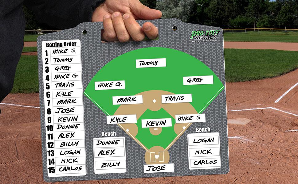 baseball softball magnet board lineup field position coach batting order